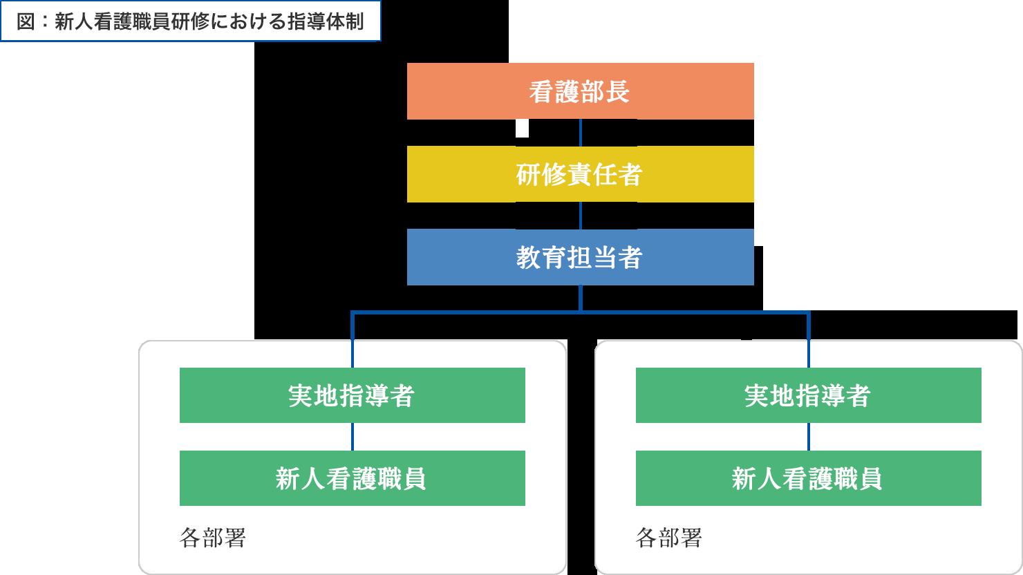 図:新人看護職員研修における指導体制