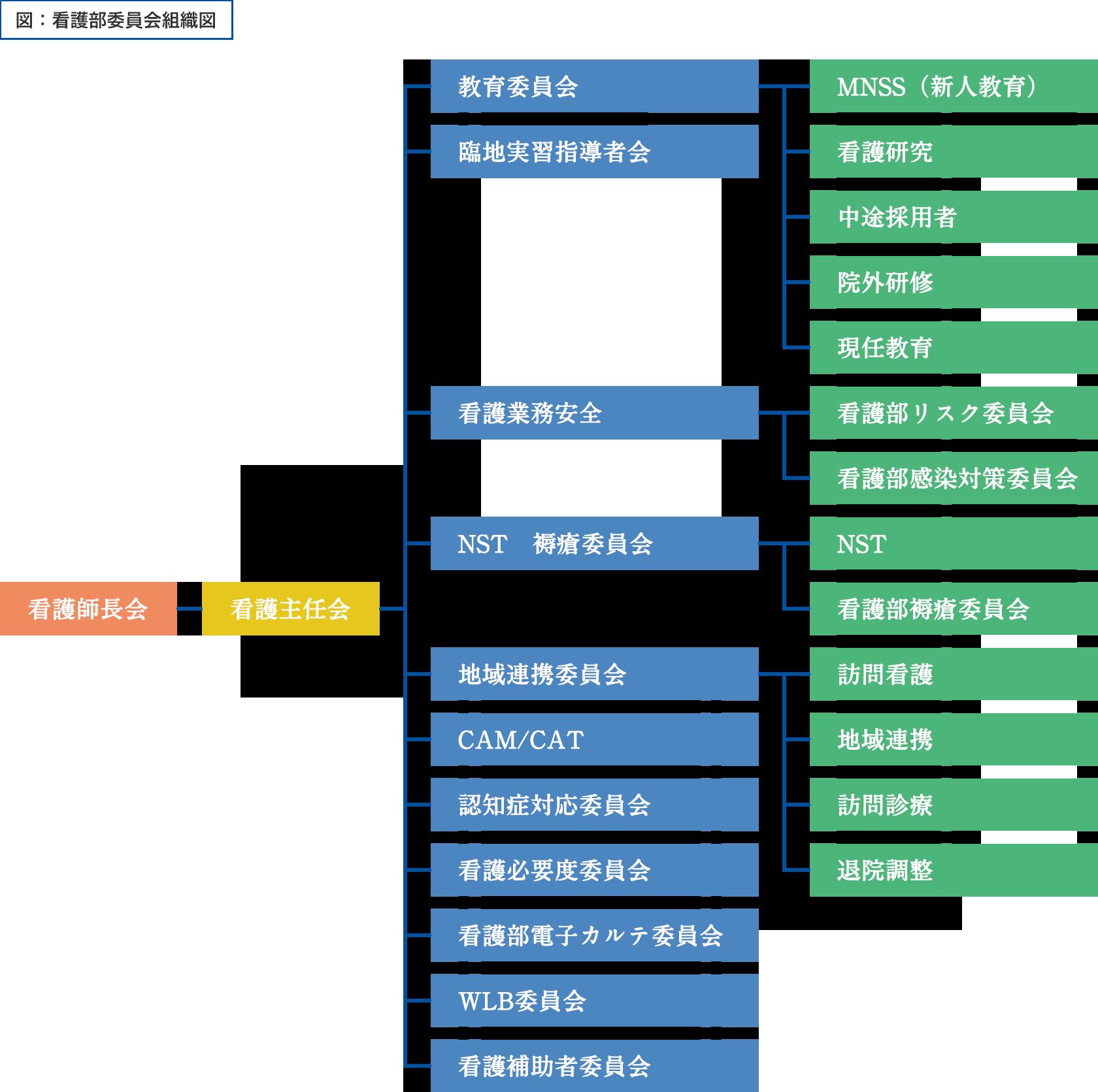 図:看護部委員会組織図